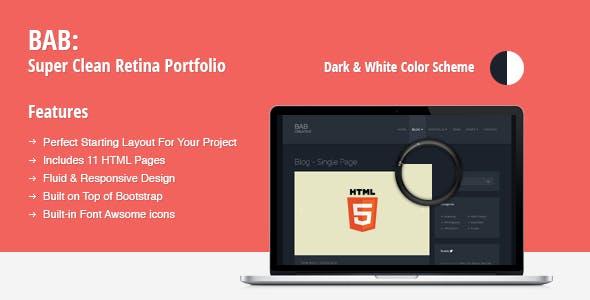 BAB: Clean, Responsive Portfolio HTML Theme