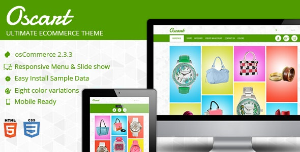 Oscart- Mobile ready OsCommerce theme - Fashion osCommerce