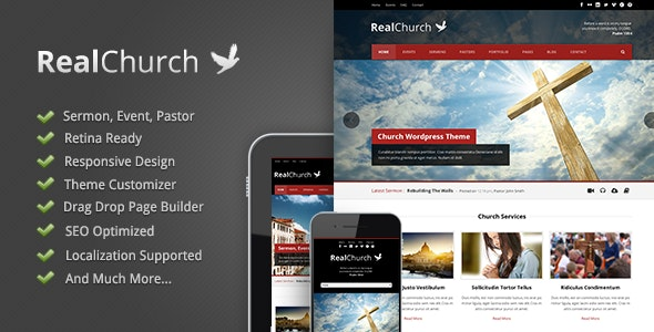 Real Church - Responsive Retina Ready Theme - Churches Nonprofit