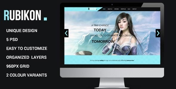 Rubikon - One Page Psd Template - Creative Photoshop
