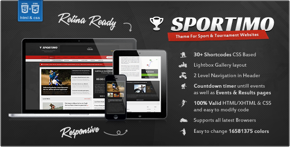 Sportimo - Sport & Events Magazine HTML Template - Events Entertainment