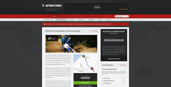 Sportimo - Sport & Events Magazine HTML Template