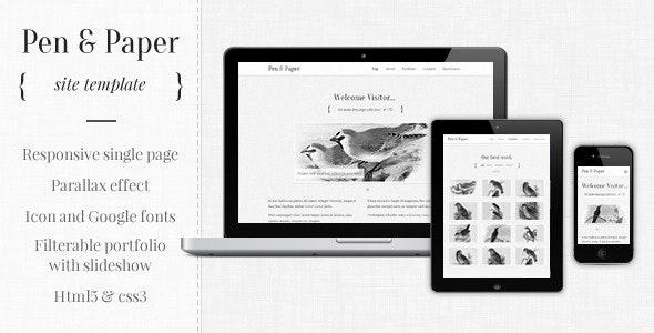 Pen and Paper - Responsive Site Template - Portfolio Creative