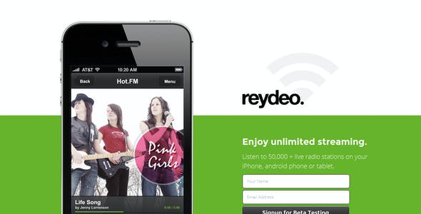 Reydeo Responsive HTML Landing Page Template