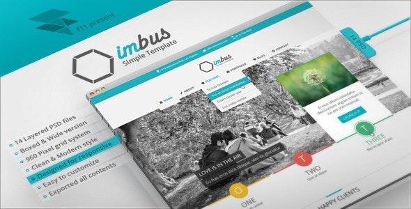 imbus - Simple PSD Template - Corporate Photoshop