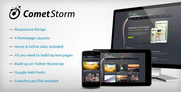 CometStorm - Multi Purpose PSD Template - Corporate Photoshop