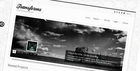 Transforms html template - Creative Site Templates