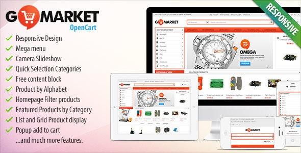 BossThemes GoMarket - Supermarket OpenCart Theme - Shopping OpenCart