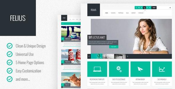 Felius – Multipurpose PSD Template - Business Corporate