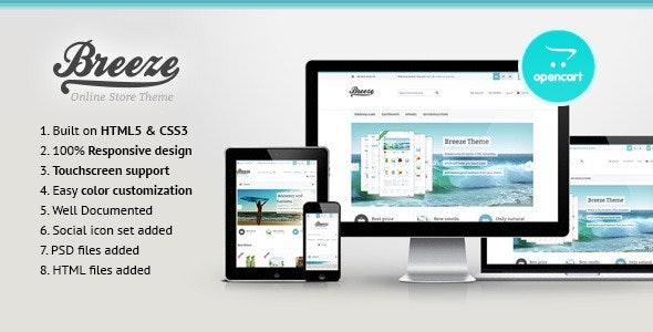 Breeze — Responsive OpenCart Theme - OpenCart eCommerce