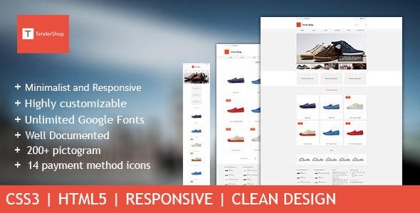 TenderShop - Minimal eCommerce Template - Shopping Retail
