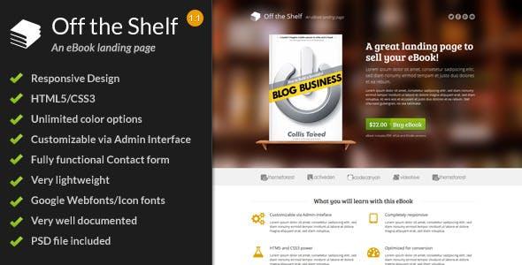 Off the Shelf - Responsive E-Book Landing Page
