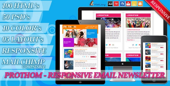 Prothom - Email Newsletter - Newsletters Email Templates