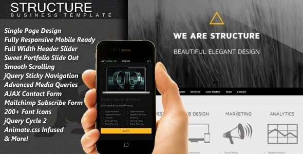 Structure - Responsive One Page HTML5 Template - Business Corporate