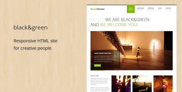 Black&Green - Responsive HTML site