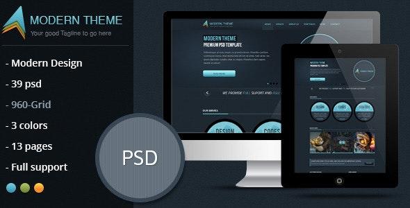 Modern Theme: Modern and Clean PSD - Creative Photoshop
