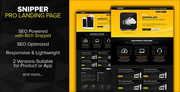 Snipper - Landing Page Powered with Rich Snippets - Landing Pages Marketing