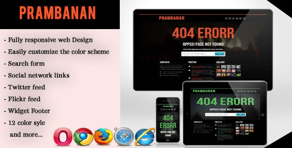 Error - Responsive Error Page - 404 Pages Specialty Pages