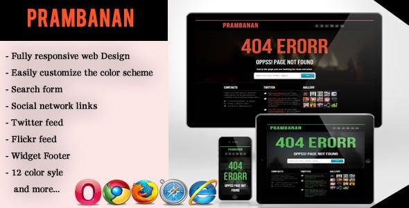 Error - Responsive Error Page
