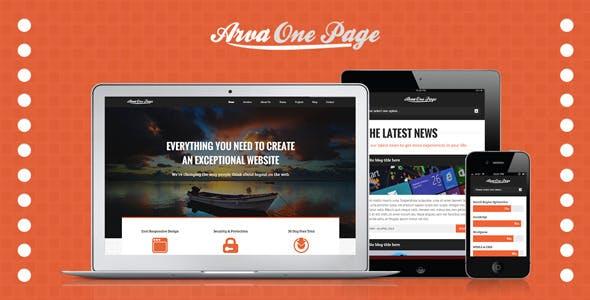 Arva Multi-Purpose One Page Template