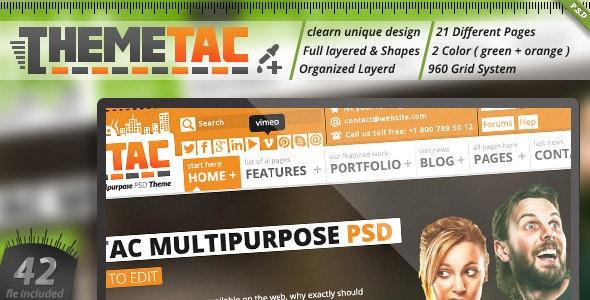 ThemeTac - Multipurpose PSD Theme - Corporate Photoshop
