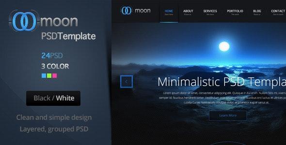 Moon PSD Template - Creative Photoshop