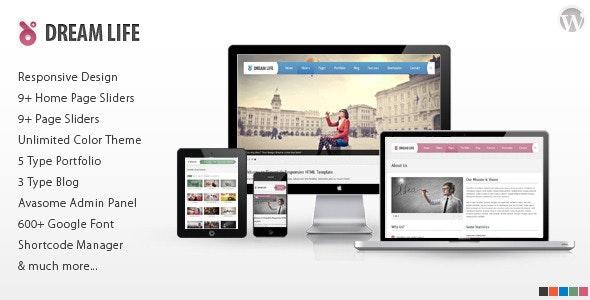 DreamLife Responsive Multi-Purpose WordPress Theme - Business Corporate
