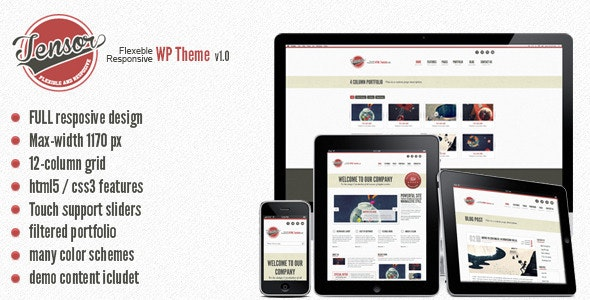 Tensor - Responsive WordPress Theme - Creative WordPress
