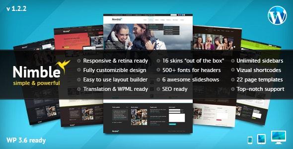 Nimble — Multipurpose Retina Ready WordPress Theme - Corporate WordPress
