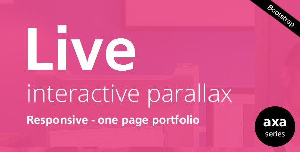 LIVE - Interactive Parallax - Responsive HTML5 - Portfolio Creative