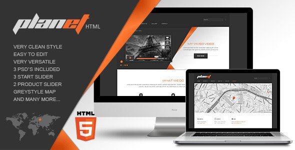 The Planet - Corporate Site Templates