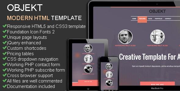 Objekt - Multipurpose Responsive Creative Theme - Creative Site Templates