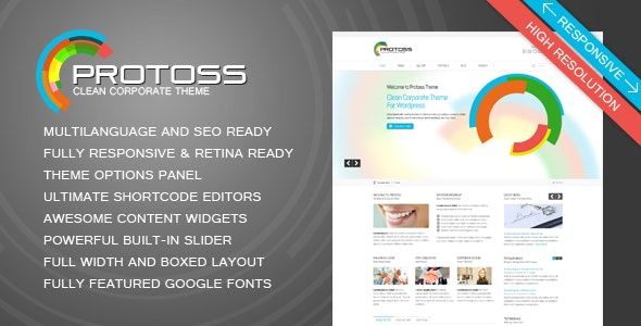 Protoss Clean Corporate Theme For WordPress - Corporate WordPress