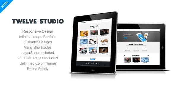 Twelve Studio - Responsive Multipurpose Template