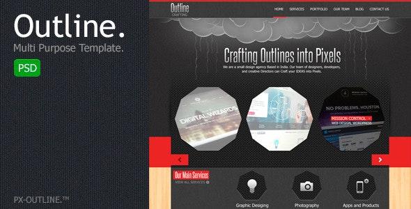 Outline Multi Purpose PSD Template - Corporate Photoshop