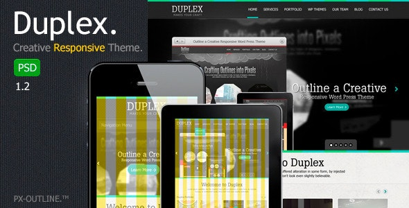 Duplex Creative Responsive PSD Template - Creative Photoshop