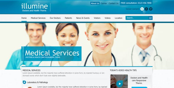 Illumine – Doctors & Health Care Theme (PSD)