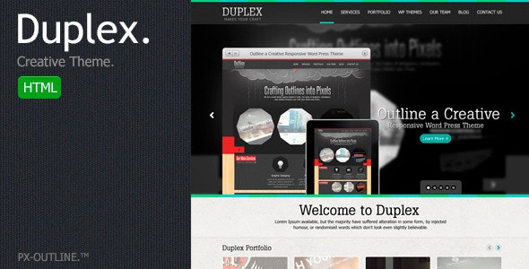 Duplex Creative HTML Template. - Creative Site Templates
