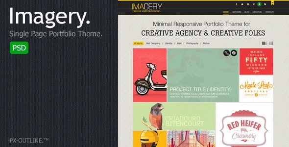 Imagery - Single Page Portfolio (PSD) - Portfolio Creative