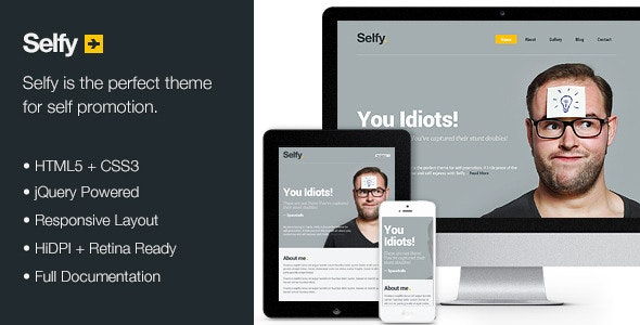 Selfy - Personal Site Template - Personal Site Templates