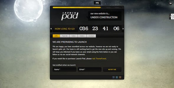 Launch Pad - Full Screen Image Under Construction