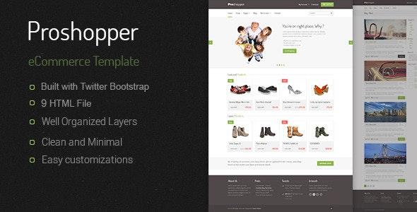 Proshoper - eCommerce HTML Template - Retail Site Templates