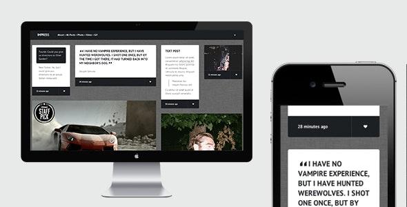 Impress - Responsive Tumblr Theme - Portfolio Tumblr