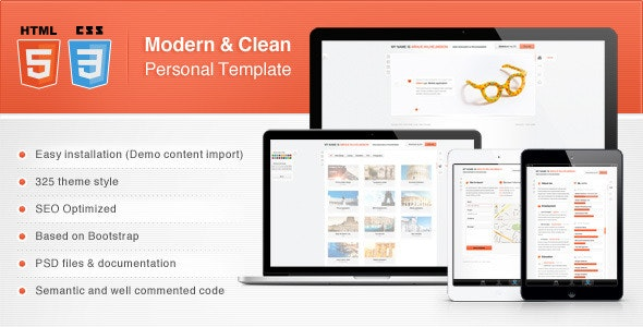 Modern & Clean Personal Template - Virtual Business Card Personal