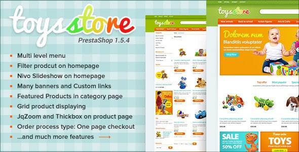 ET Toys Store PrestaShop Template - Entertainment PrestaShop