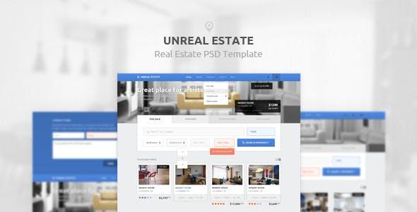 Unreal Estate - PSD Template