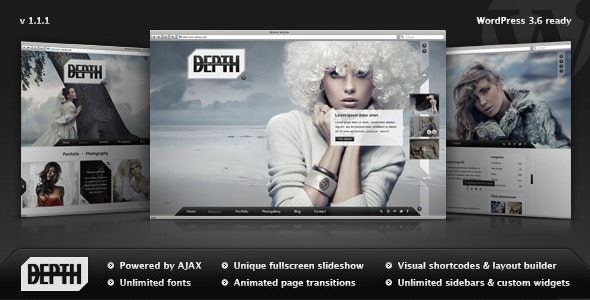 Depth — Full-Screen AJAX Portfolio WordPress Theme - Photography Creative