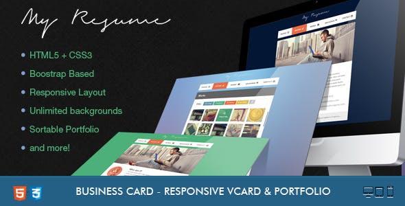 Resume - Responsive, Bootstrap CV / Resume