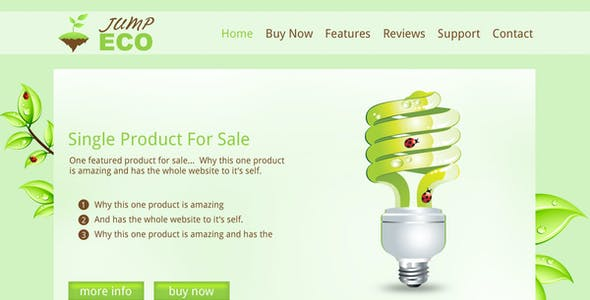 Jump Eco HTML - Slider - Single product shop