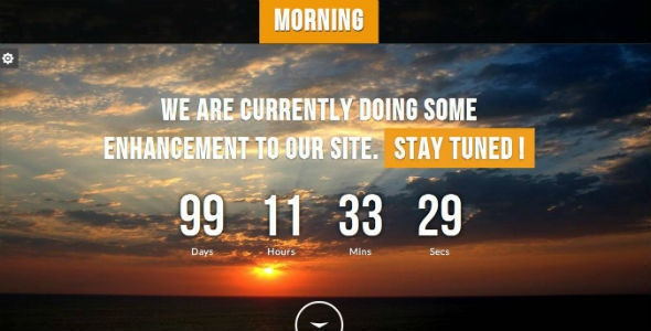 Morning - Responsive Underconstruction Template - Under Construction Specialty Pages